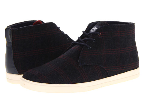 Adidasi Clae - Strayhorn Canvas - Deep Navy Plaid Wool