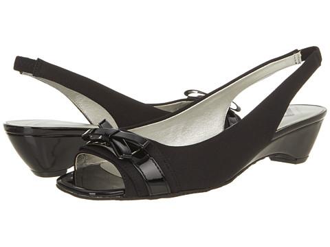 Pantofi Anne Klein New York - Bogdon - Black/Black Fabric