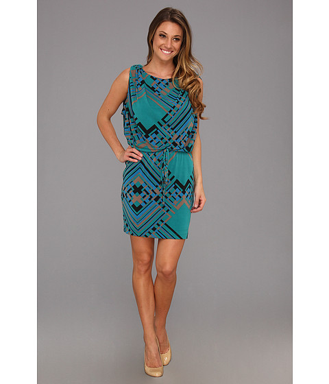 Rochii Jessica Simpson - Sleeveless Drawstring Dress w/ Loop Tabs - Green