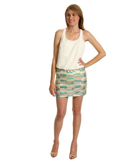 Rochii Laundry by Shelli Segal - Racer Back Chiffon Blouson Dress - Warm White