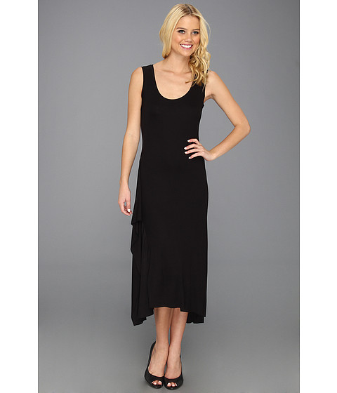 Rochii BCBGMAXAZRIA - Annika Sleeveless Dress w/Ruffle Slit - Black