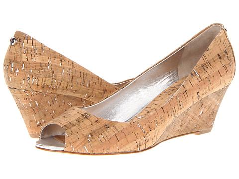 Pantofi Donald J Pliner - Milli - Silver/Natural Distressed Metallic Cork