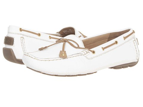 Pantofi Clarks - Dunbar Racer - White Leather
