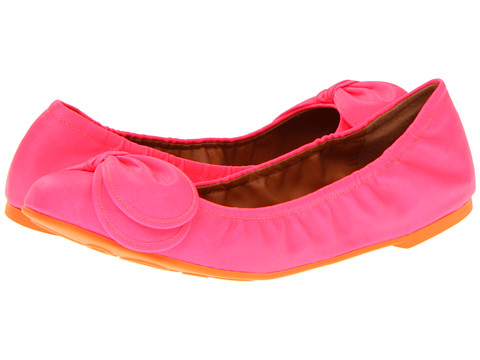 Balerini Marc by Marc Jacobs - Pretty Knot Fluor Canvas Ballerina - Canvas Gumfluor Pink