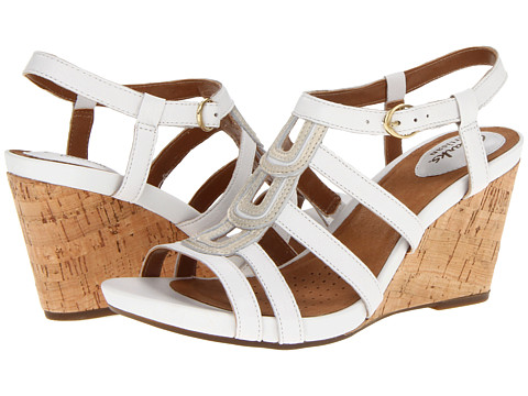 Sandale Clarks - Kyna Wise - White Leather