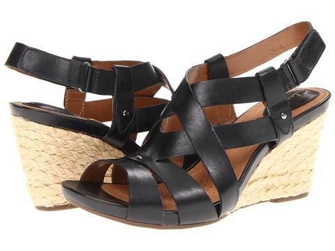 Sandale Clarks - Kyna Wit - Black Leather