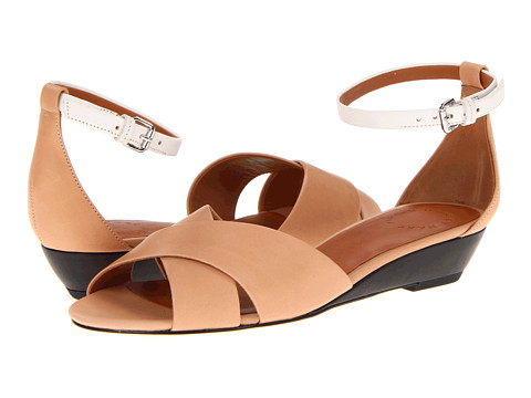 Sandale Marc by Marc Jacobs - Clean Wedge - Vacchetta Nude/Black/White
