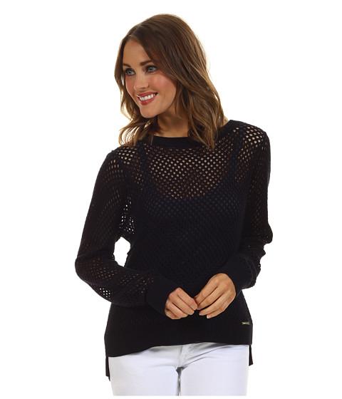 Bluze Michael Kors - L/S Mesh Crewneck Sweater - Navy