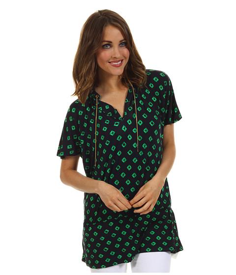 Bluze MICHAEL Michael Kors - Tie Dye Chain Blouson Top - Palmetto Green