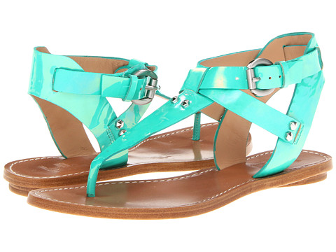 Sandale Belle by Sigerson Morrison - Randy - Jade Green Smeraldo Patent