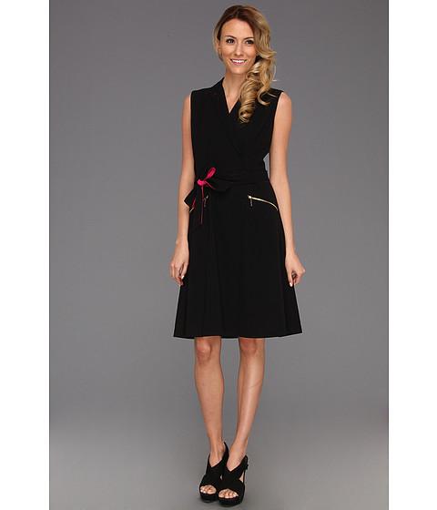 Rochii Calvin Klein - S/L Fit & Flare w/ Tie Waist Dress - Black