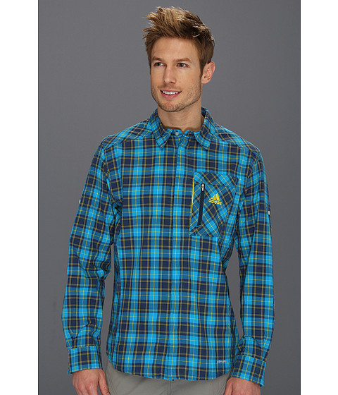 Bluze adidas - Hiking/Trekking Hybrid Long Sleeve Shirt - Turquoise