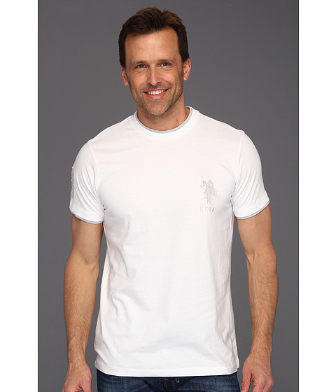 Tricouri U.S. Polo Assn - Solid Crew Neck T-Shirt with Big Pony - White
