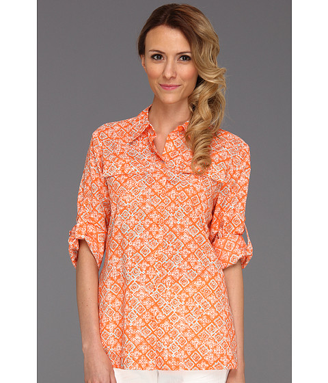 Tricouri Jones New York - Roll Sleeve Shirt w/ Contrast Facings 10426023 - Coral Ice Combo