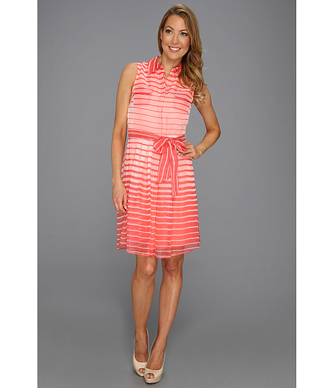 Rochii Vince Camuto - Sleeveless Shirt Dress - Pink