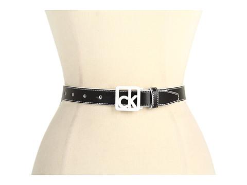 """Curele Calvin Klein - Calvin Klein 1\"""" Logo Buckle on Panel - Black"""