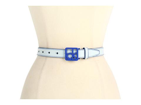 """Curele Calvin Klein - Calvin Klein 1\"""" Logo Buckle on Panel - Blue"""