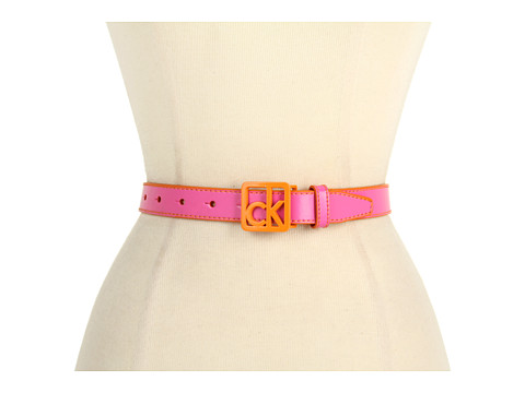 "Curele Calvin Klein - Calvin Klein 1\"" Logo Buckle on Panel - Peach"
