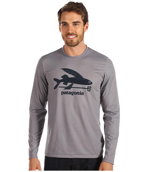 Tricouri Patagonia - L/S Polarized Tee - Flying Fish/ Feather Grey