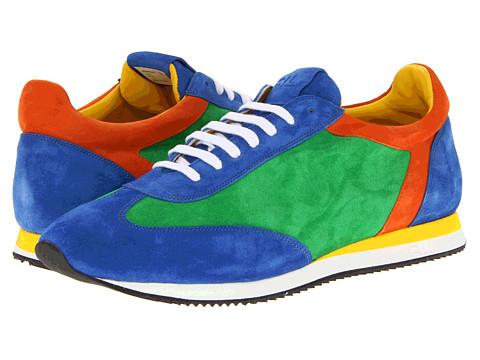 Adidasi Ralph Lauren Collection - Winfield - Green/Orange/Royal Suede