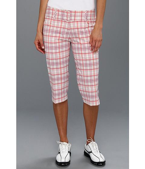 Pantaloni adidas - ClimaLiteî Plaid Pedal Pusher \13 - Ecru/Watermelon/Blush/Berry