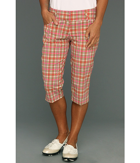 Pantaloni adidas - ClimaLiteî Plaid Pedal Pusher \13 - Khaki/Bubblegum/Punch/Sunset
