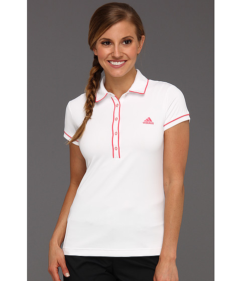 Tricouri adidas - Fashion Performance Solid Polo \13 - White/Candy
