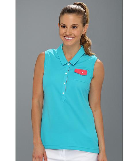 Bluze adidas - Fashion Performance Sleeveless Pocket Polo \13 - Aqua/Candy