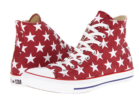Adidasi Converse - Chuck Taylorî All Starî Star Print Hi - Jester Red/White Star Print