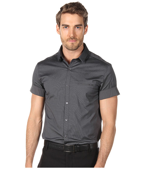Tricouri Costume National - Short Sleeve Shirt with Contrast Details - Pinstriped