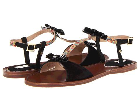 Sandale Paul Smith - Basil Black String Sandal - Black/Muted Mini Swirl