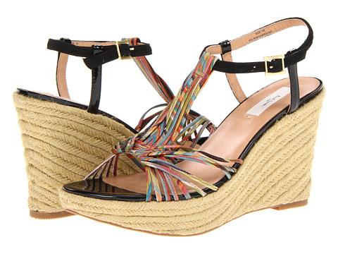 Sandale Paul Smith - Benita Wedge Sandal - Black/Muted Mini Swirl