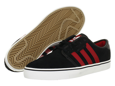 Adidasi adidas - Seeley - Black/University Red/White (Suede)