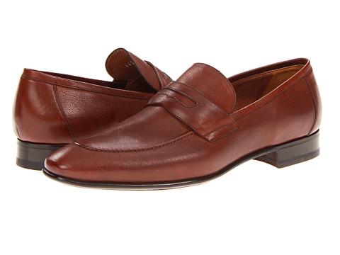 Pantofi A. Testoni - Soft Grain Penny Loafer - Caramel