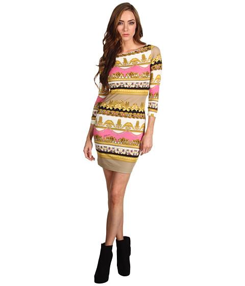 Rochii Just Cavalli - Parthenon Print Jersey Dress - Tan