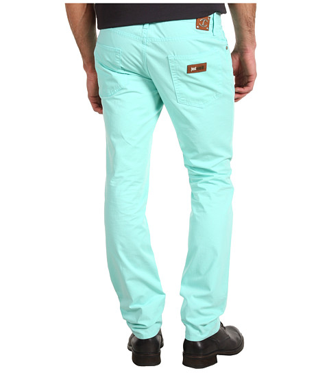 Blugi Just Cavalli - Cotton Gabardine 5 Pocket Pant - Aqua