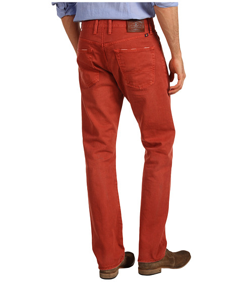 Blugi Lucky Brand - 121 Heritage Slim Colored Denim Jean - Barn Red