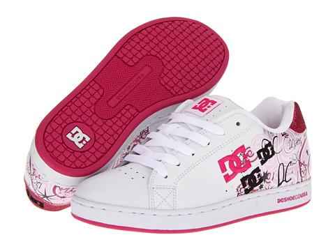 Adidasi DC - Pixie Dizzy Script W - White/Crazy Pink/Pink