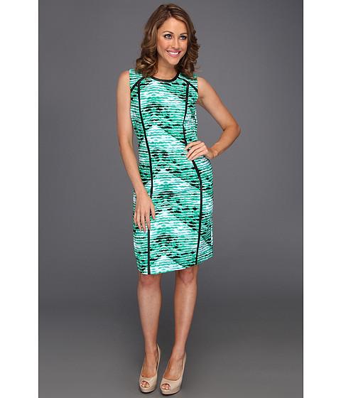 Rochii Calvin Klein - SMD Shift Dress - Emerald/Nile Multi