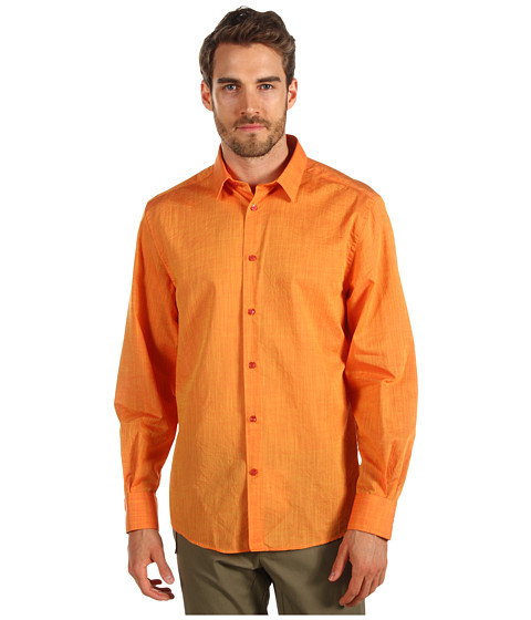 Camasi Versace - Linen Button Down Shirt - Bright Orange