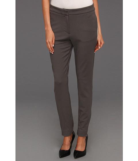 Pantaloni Halston Heritage - Skinny Pant with Contrast Tuxedo Stripe - Dark Flint
