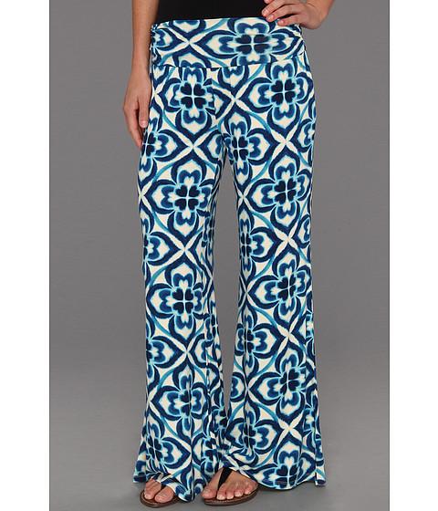 Pantaloni Lucky Brand - Shira Mosaic Palazzo Pant - Blue Multi
