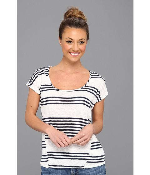 Bluze Lucky Brand - Arianna Dolman S/S Top - Navy Stripe
