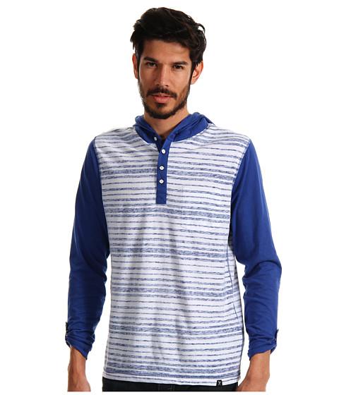 Bluze ECKO - Reverse Print Stripe Hooded Tee - Blue Suede