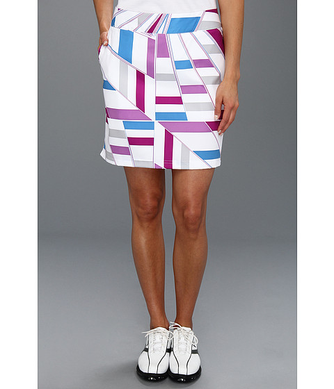 Pantaloni adidas - Printed Geo Woven Skort \13 - White/Passionfruit/Blueberry/Chrome