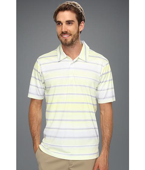 Tricouri adidas - ClimaCoolî Gradient Stripe Polo \13 - Chrome/Seafoam/Vivid Yellow/White