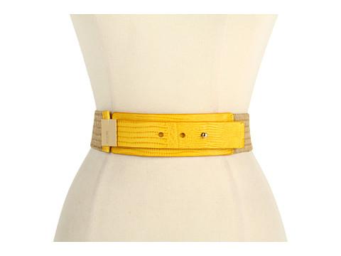 Curele Michael Kors - Michael Kors 50MM Stretch Straw Belt - Yellow