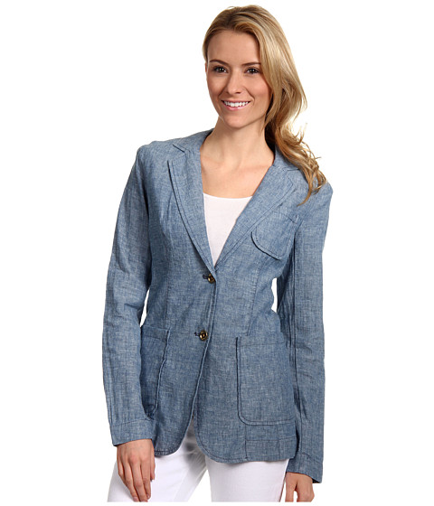Jachete Michael Kors - Chambray Patch Pocket Jacket - Light Indigo