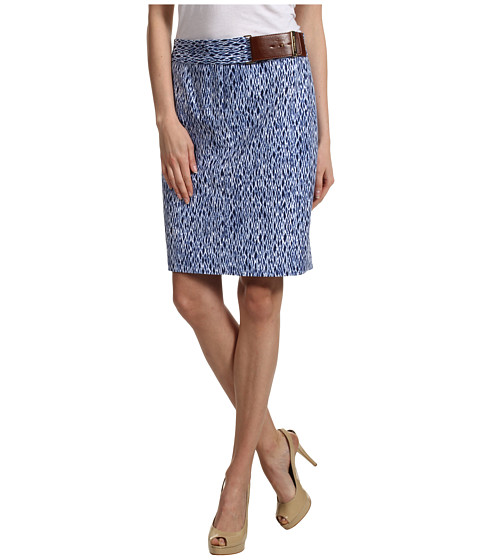 Fuste Michael Kors - Wave Shibori Pencil Skirt - Vintage Cadet
