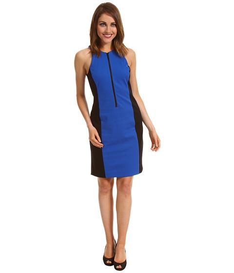 Rochii Michael Kors - Ponte Colorblocked Zip Dress - Urban Blue